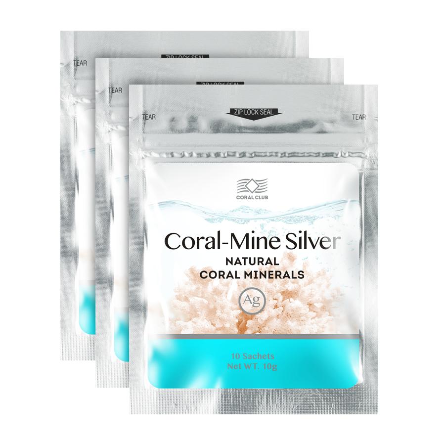 Coral Mine Silver Минеральная композиция Корал Майн